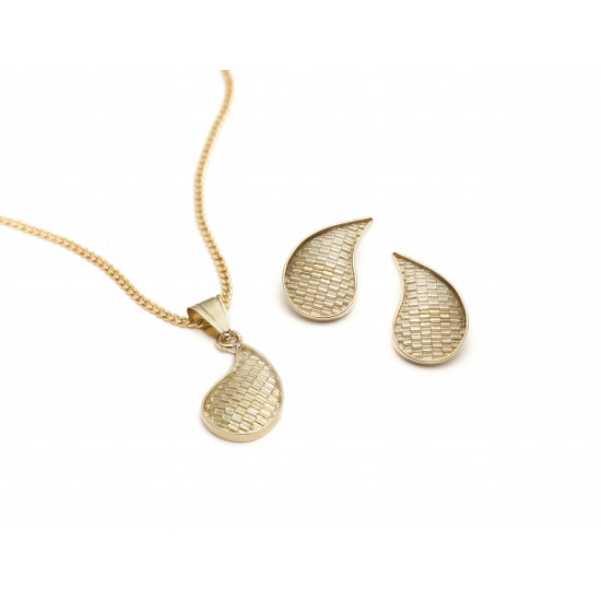 MISSODEY Baobab -Set of woven earrings and pendant